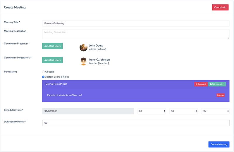 Conference Add / Modify