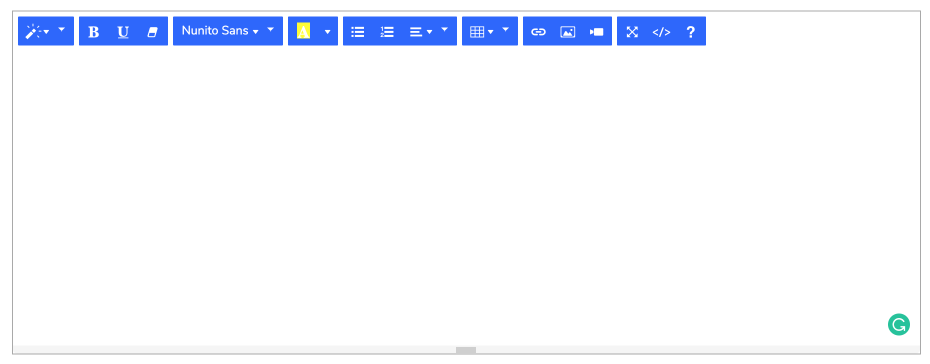 Eduopus Global settings simple editor