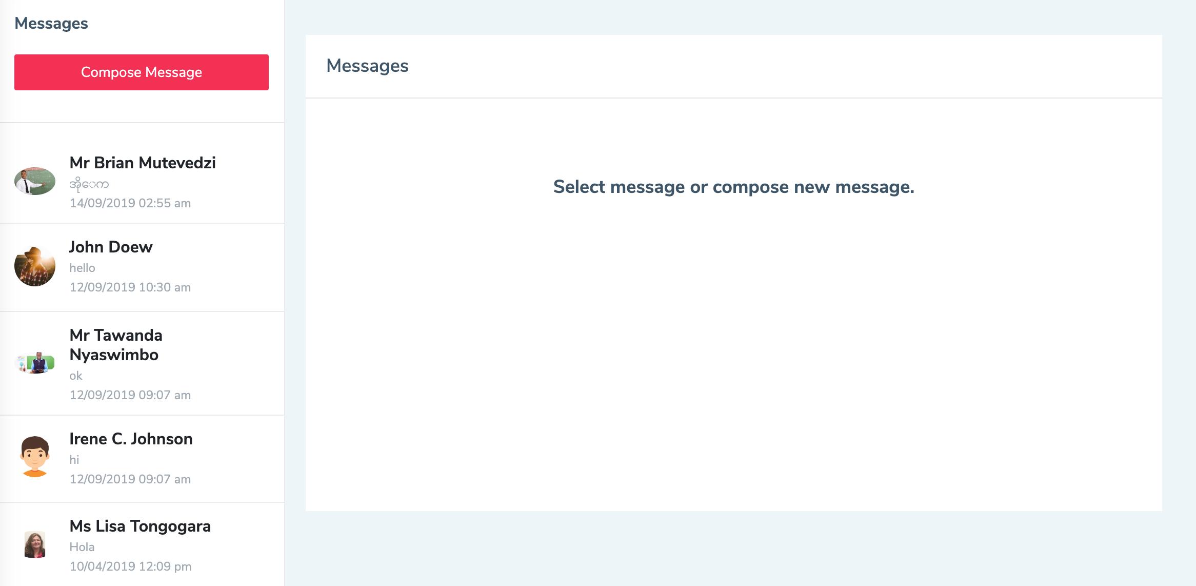 Eduopus messages list