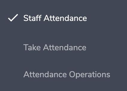 Eduopus Staff Attendance menu