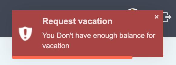 Eduopus Vacations no balance