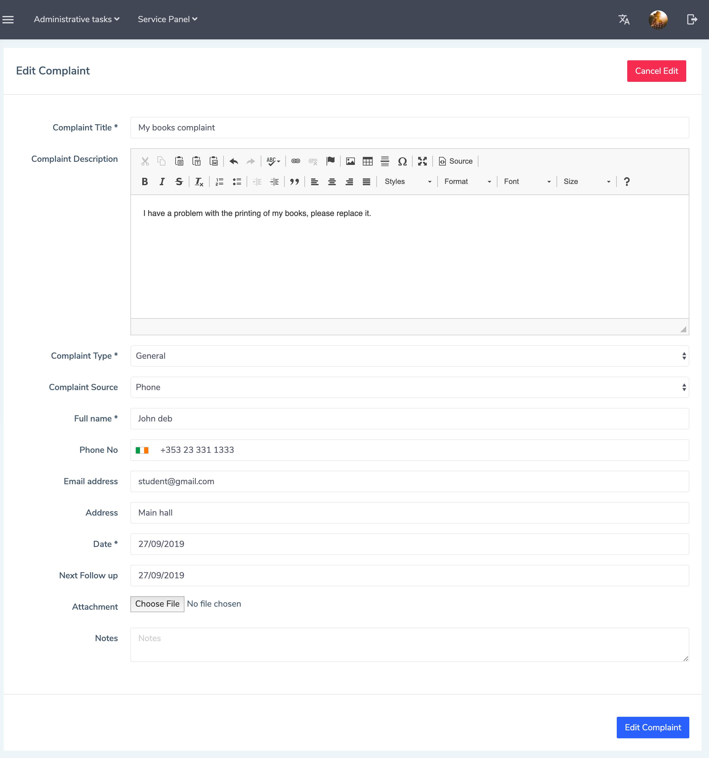 Eduopus Welcome Office complaints edit
